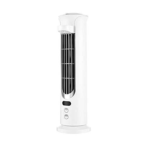 Ventilador pequeño sin Hojas, Escritorio de Oficina, Aire Acondicionado pequeño, humidificador Recargable USB, Ventilador Enfriador de Aire, humidificador pulverización silenciosa (Color : Blanco)
