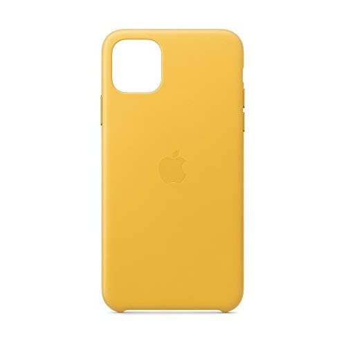 Apple Custodia in Pelle (per iPhone 11 Pro Max) - Limone Scuro