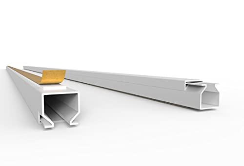 SCOS Smartcosat Canaleta para cables de 10 m (12 x 12 mm de alto x 10 x 1 m de ancho), autoadhesiva, de plástico PVC, para montaje en pared