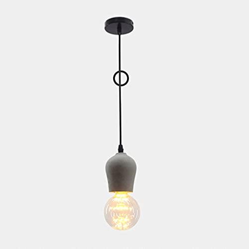 CHENBAI Lámpara Colgante de Cemento E27 Lámpara Colgante de hormigón en Acabado Gris Lámpara de Techo de Isla de Cocina Pantalla de lámpara de Techo Accesorios de Cemento de hormigón Luz Colgante Bar