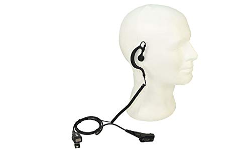 NAUZER PIN-229-TPH900 Pinganillo Profesional Micro-Auricular para Walkie Talkie Airbus TPH TETRAPOL
