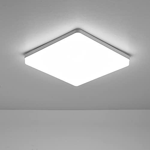 Lixada Lámpara LED de Techo Lámpara Incandescente Plafón Led Techo Lámpara de Techo Luz de Techo Led para Pasillo de Dormitorio de Cocina (luz cálida de 2800-3200 K)