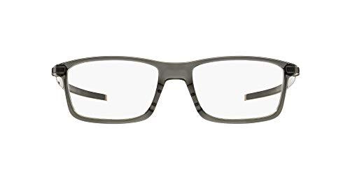 Oakley Men's OX8050 Pitchman Rectangular Prescription Eyewear Frames, Grey Smoke/Demo Lens, 57 mm