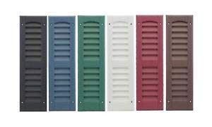 """OUTDOOR PLAY AND STORAGE LOUVERED Molded SHUTTERS 6""""X21"""" (Pair) (Black)"""