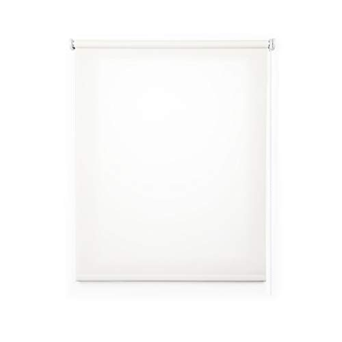 STORESDECO Estor Enrollable traslúcido Liso, Estor para Ventanas y Puertas (140 cm x 250 cm, Blanco)