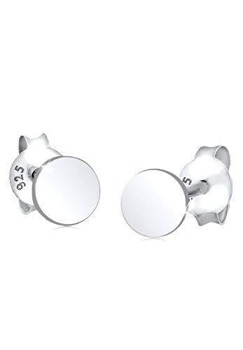 Elli Ohrringe Damen Kreis Basic Geo in 925 Sterling Silber
