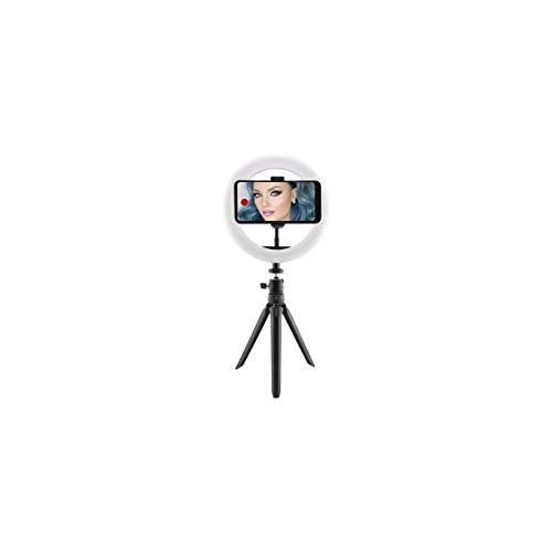 KSIX Aro de Luz Trípode sobremesa Regulable. Anillo de Luz Led para Móvil, 3 Temperaturas de Luz y 10 Intensidades de Brillo. Ring Light para TIK Tok, Fotografía, Selfie.