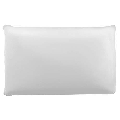 Edda Lux Funda para cojín de 72 x 42 cm y para almohada MaxxGoods de 70 x 42 cm, en muchos colores, 100% algodón, con cremallera, color: blanco
