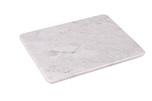 Home Basics Multi-Purpose Pastry Marble Cutting Board Slab with Non-Slip Feet for Stability & Scratch Protection for Countertop | Easy to Clean