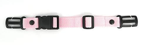GURTIES® Brustgurt für Rucksack Schulranzen Schulrucksack Kinderrucksack (Dunkelbeige/Khaki) (rosa)