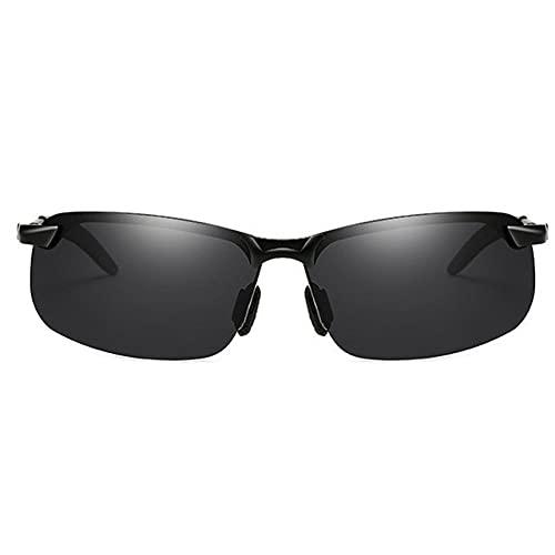 Gafas de sol polarizadas para adultos, protección UV, adecuadas para ciclismo, correr, viajes, playa, pesca, color negro