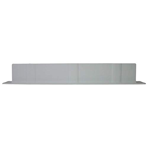 Chamsari Home- Large Platinum Silicone Sink Back Splash Guard Made in Korea 22193 on top L×33H x 2W inch it can be used in kitchen bathroom and Island Sinks water splash guard- Light Gray