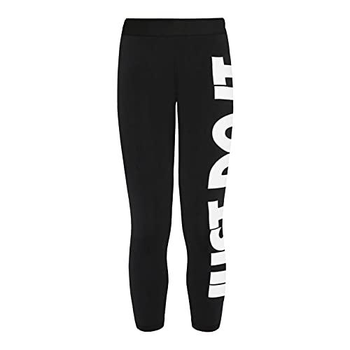 Nike NsEssntl Gx HR Lggng JDI Pantaloni Eleganti, Nero/Bianco, XXL Donna