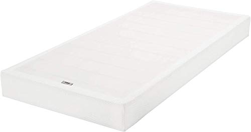 Amazon Basics Smart Box Spring Bed Base, 5-Inch Mattress Foundation - Twin Size, Tool-Free Easy Assembly