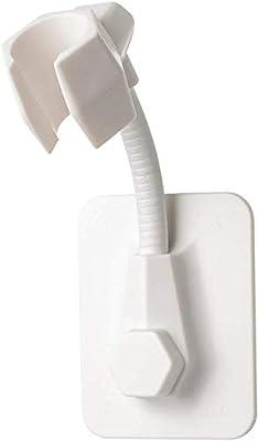 1 PCS Strong Adhesive Shower Head Holder Adjustable Shower Wand Holder,Handheld Shower Head Hanger Wall Mount Bracket,Showerhead & Bidet Sprayer Bracket for Bathroom Bathtub (White)
