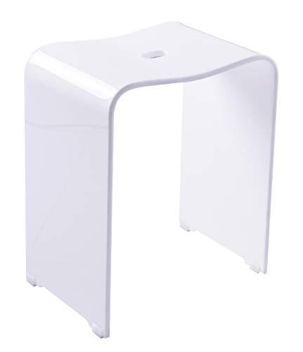 RIDDER A211101 Trendy Bad-Hocker, Acryl, weiß, ca. 39 x 47 x 28 cm