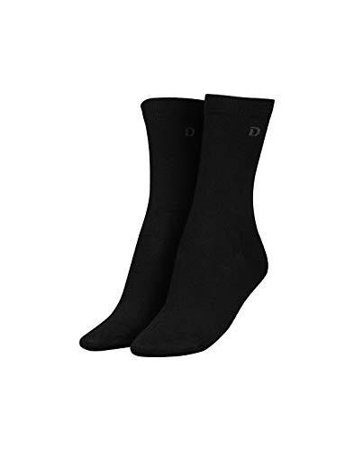 Dilling Damen Socken aus Bio-Baumwolle Schwarz 39-42
