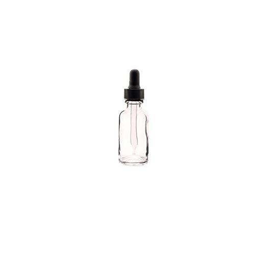 Odoukey 12 Piezas de plástico Transparente Jar Botella de Aceite Esencial con el cuentagotas de Maquillaje cosmético de la Muestra Recipiente Botella Pot 30ml