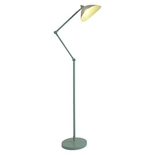 Lámpara de pie con luz LED, lámpara de noche vertical, poste retráctil para sala de estar, dormitorio, mesita de noche, sofá, lámpara de poste interior (color: negro), verde