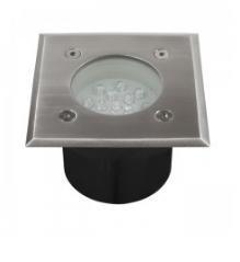 LED Quadrato da incasso da terra lampada da esterno e interno 230V 1W