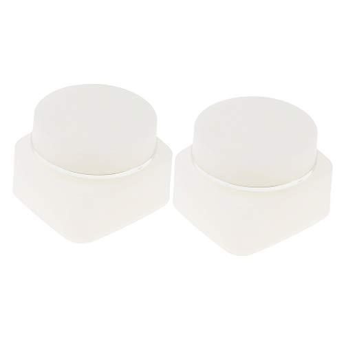 T TOOYFUL 2pièces Pot Vide en Plastique Récipient Cosmétique Récipient Cosmétique Vide Stockage de Maquillage Rechargeable - 30g