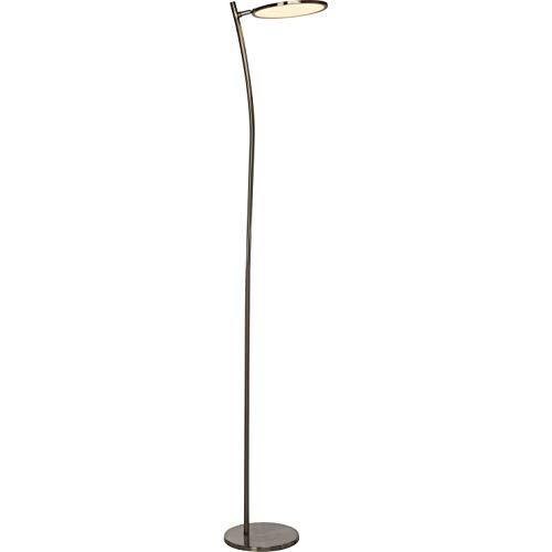 Brilliant Pluto LED plafondschijnwerper 1,8 m vloerlamp zwenkbaar ijzer/wit 1500 lumen, LED geïntegreerd