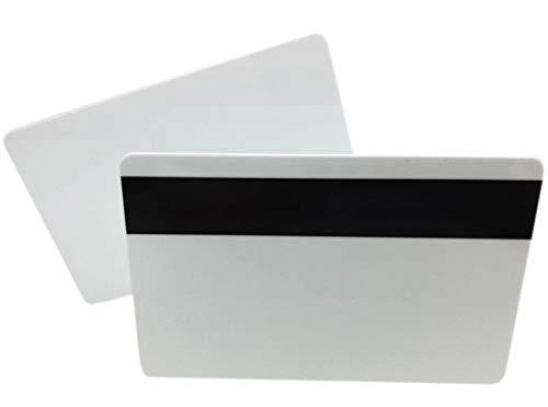 Premium Plastikkarten Weiss mit Magnetstreifen HiCo | 1-500 Stück | Rohlinge blanko für Kartendrucker, NEU! (5)