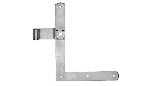 Pollmann Baubeschl/äge 1750000 /Öse auf Platte 55 x 55 x 4 mm hell verzinkt