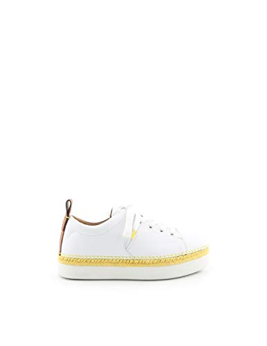 SEE BY CHLOÉ Luxury Fashion Damen SB32210A09221101 Weiss Leder Sneakers | Jahreszeit Permanent