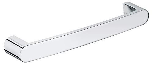 KEUCO Haltegriff, hochglanz-verchromt, 33,5 cm lang, Belastberkeit 115 kg, für Badewanne und Dusche, Wandmontage, auch als Wannengriff, Elegance