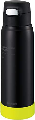 ピーコック魔法瓶工業 ステンレスボトル ストロータイプ 0.68L ブラックイエロー APA-R70 BY