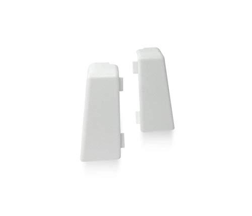 KGM Außenecken für Sockelleiste MEGA-Profil (20 x 58 mm) weiß – Maße: 20 x 58 mm – 2 Stück