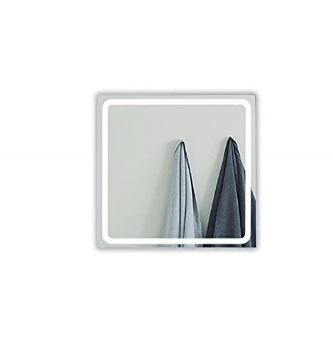 Espejo de baño Rectangular Modelo Altea de 100x70cm con luz LED integrada de 30w con función antivaho. Luz Blanca (5700 K) de eficiencia energética A+.