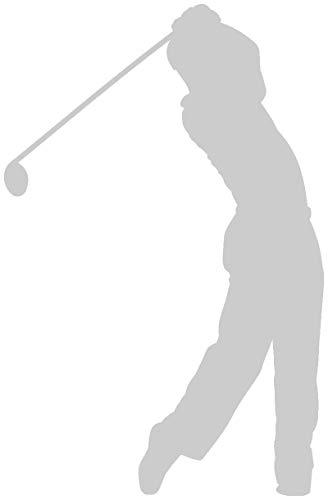 Samunshi® Autoaufkleber Golfspieler Aufkleber in 7 Größen und 25 Farben (10x6,5cm silbermetalleffekt)