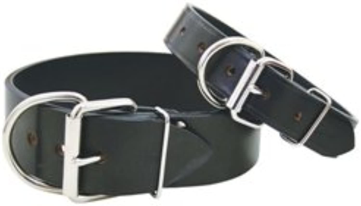 Auburn Leathercrafter Black Tuff Stuff Leather Collar (2 x26 )