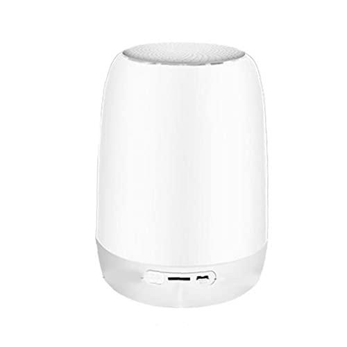 Pequeña lámpara de cabecera del tacto con el reloj despertador digital, altavoz Bluetooth luz de la noche, reproductor de música, 7 Cambio de color regulable, lámparas USB recargable
