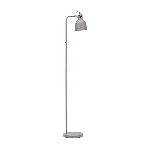 Pauleen 48160 Grand Leisure Lámpara de pie en gris moderna lámpara de pie estilo industrial para Loft Design max25 W E27 gris 230 V metal