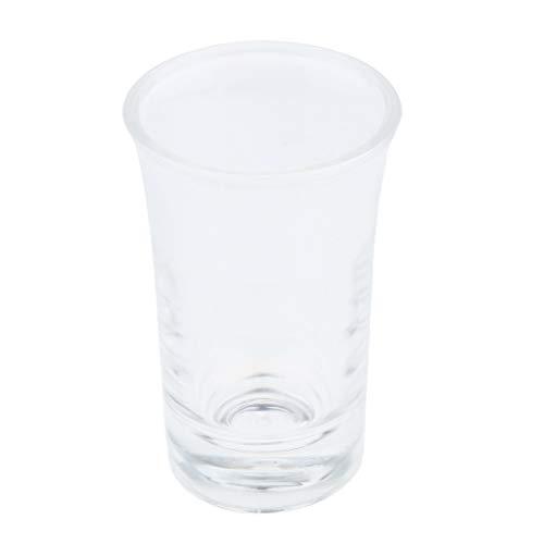 Hellery Vaso de Vaso de Whisky con Base Pesada para Copa de Vino, Fácil de Limpiar, Anti-quebrado - Claro2