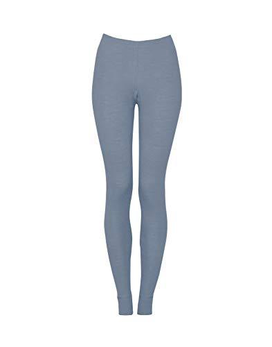 Dilling Merino Leggings für Damen aus 100% Bio-Merinowolle Blau 40