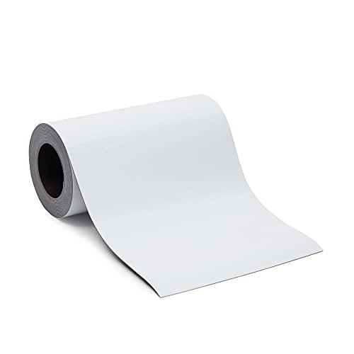 Magnetstreifen zum Beschriften von Juvale–Magnet-Etiketten/Magnetschilder, Wiederbeschreibbar, Trocken Abwischbar - Für Kühlschrank, Werkstatt, Whiteboard, Lager - Weiß, 10cm x 3 m