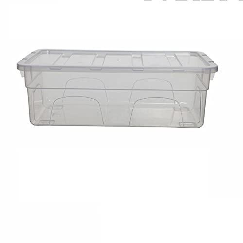 HoitoDeals Caja de zapatos transparente para mujer, caja apilable con tapas para uso en el hogar (10 unidades)