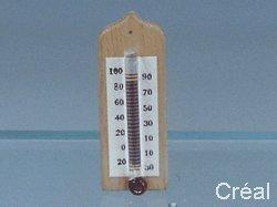 Unbekannt Creal 71360 Thermomètre Bois/Verre 1:12 pour Maison de Poupée