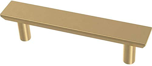 Bayview Brass Simple Chamfered Pull, Cabinet Handles and Drawer Pulls for Kitchen Cabinets and Dresser Drawers, 3 Inch (76mm), 10-Pack,Cabinet Hardware