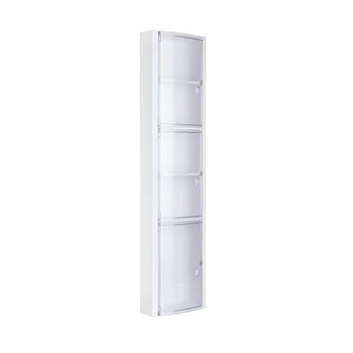 TATAY 4480001Badezimmergarnitur senkrecht mit 3Türen Kunststoff EIS 22x 10x 90,5cm