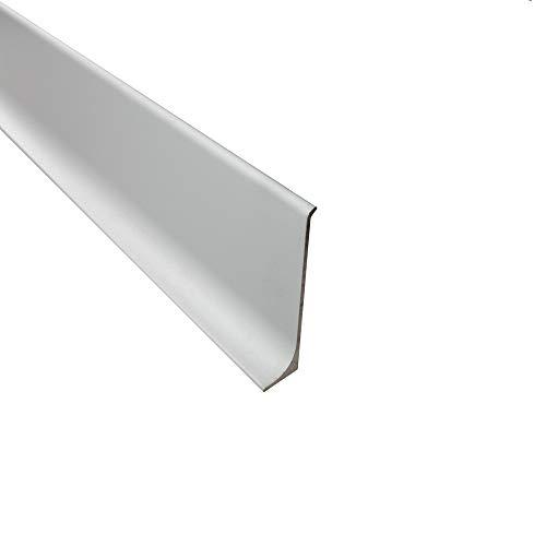Alu Sockelleiste Fußbodenleisten Aluminium eloxiert silber L270cm H60mm matt