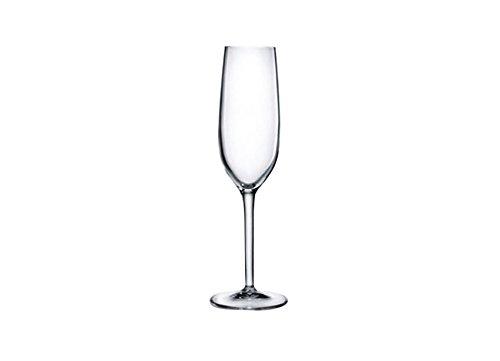 Luigi Bormioli 7540130 Boîte de 6 Flûtes, Cristal, Transparent, 7x7x23 cm
