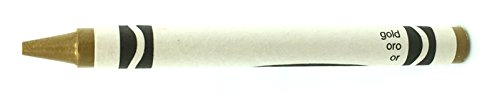 50 Gold Crayons Bulk - Single Color Crayon Refill - Regular Size 5/16' x 3-5/8'