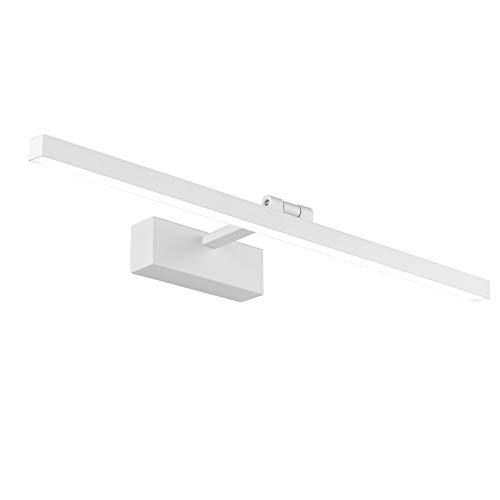 Klighten LED Spiegellampe, 180 Grad Drehung Spiegelleuchte, Badlampe hohe helle 14W 61cm LED Wandlampe, 5000K-5500K, Weiß