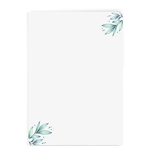 Briefpapier mit Blumenmotiv Version 4 im DIN A4 Format - 50 Blätter einseitig bedruckt in qualitativem 120g/qm Papier - von Sophies Kartenwelt