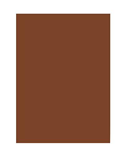 folia 6385 - Tonpapier schokobraun, DIN A3, 130 g/qm, 50 Blatt - zum Basteln und kreativen Gestalten von Karten, Fensterbildern und für Scrapbooking